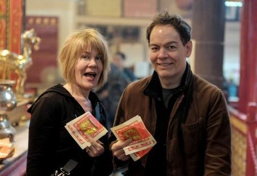 Max Keiser with his wife, Stacy Herbert
