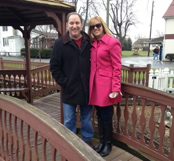 Melissa with her husband, Greg Gisoni