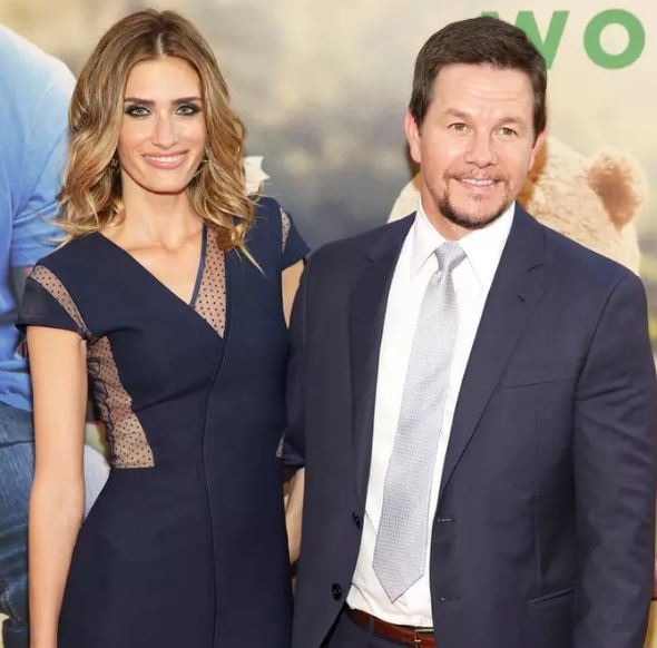 Rhea with her husband, Mark Wahlberg