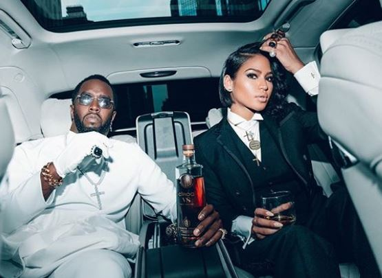 Cassie with Diddy in Ciroc Ad