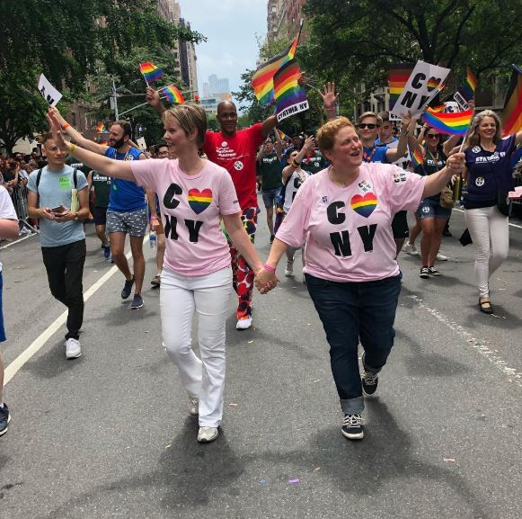 Cynthia Nixon With Partner