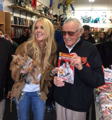 JC with her father, Stan Lee