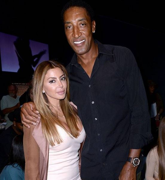 Larsa with her husband, Scottie Pippen