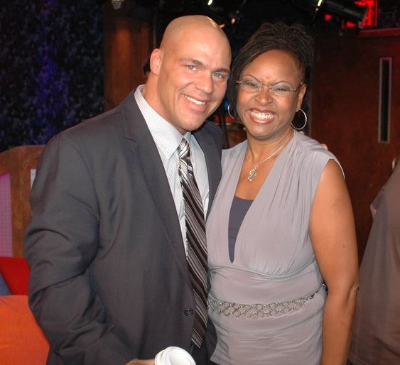 Robin Quivers and Kurt Angle