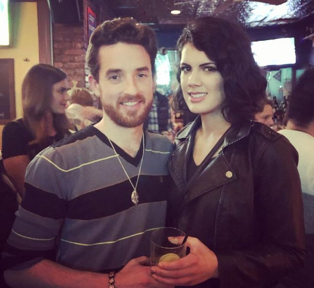 Bre with her boyfriend, Ryan at Exiles Bar