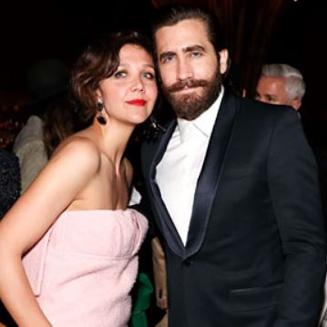 Jake with his sister, Maggie Gyllenhaal