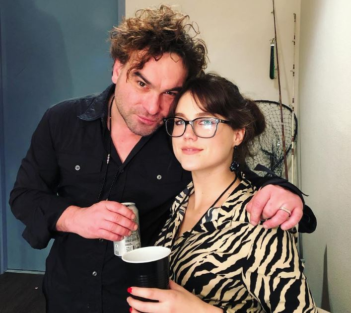 Johnny Galecki with his girlfriend, Alaina Meyer
