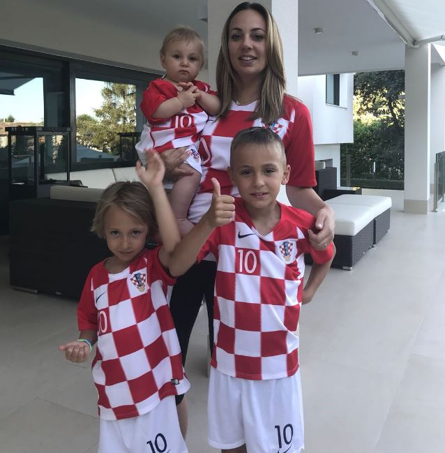 Luka Modric wife, Vanja Bosnic and children