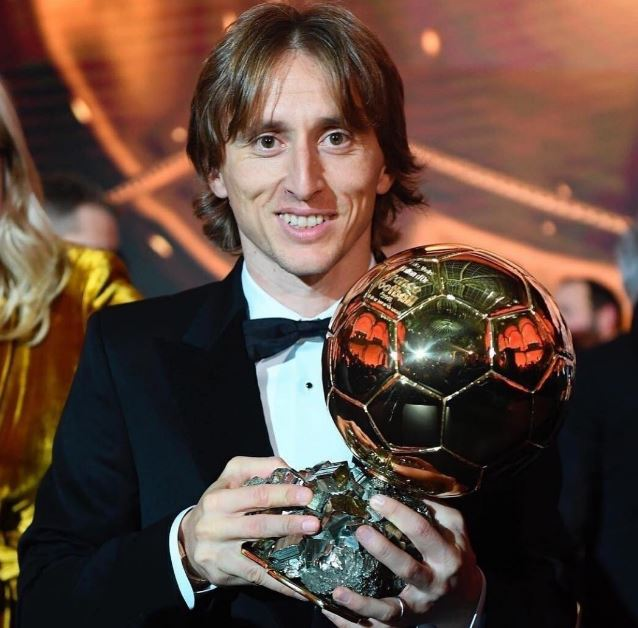 Luka Modric with Ballon DOr