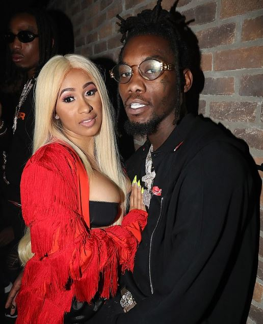Offset with his wife, Cardi B