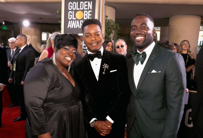 Stephen James With Mother and brother, Shamier James