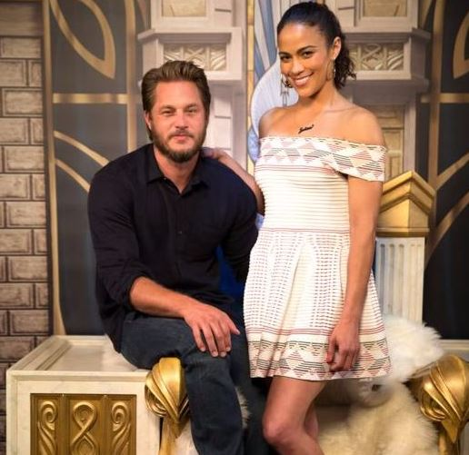 Travis Fimmel and Paula Patton