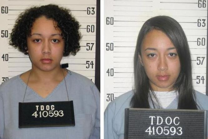 Cyntoia before and after serving in prison