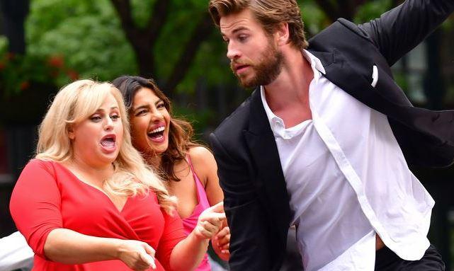 Liam with Priyanka Chopra and Rebel Wilson in a movie