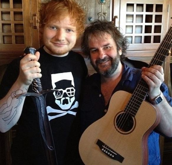 Peter Jackson with Ed Sheeran