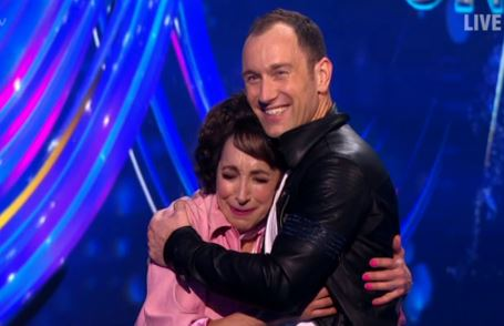 Didi Conn with her dance partner, Łukasz Różycki