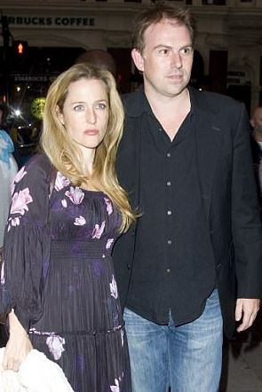 Gillian Anderson and Clyde Klotz