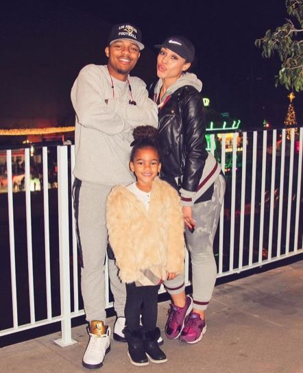 Joie Chavis with boyfriend, Bow Wow and daughter, Shai