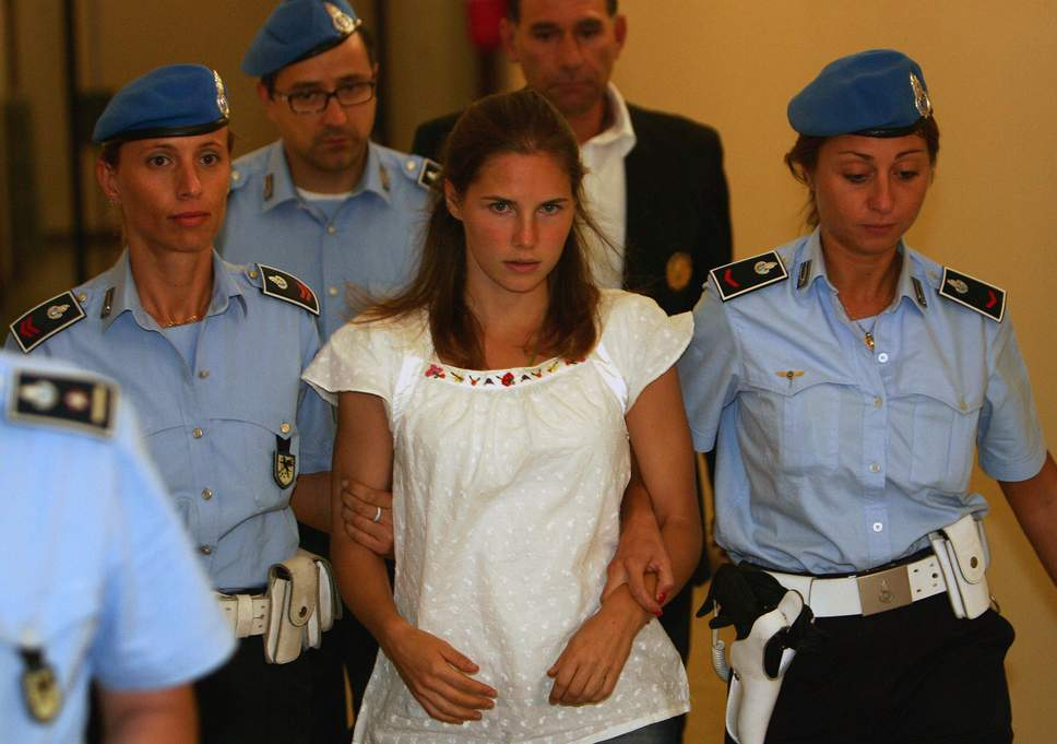 Amanda Knox, during her trial