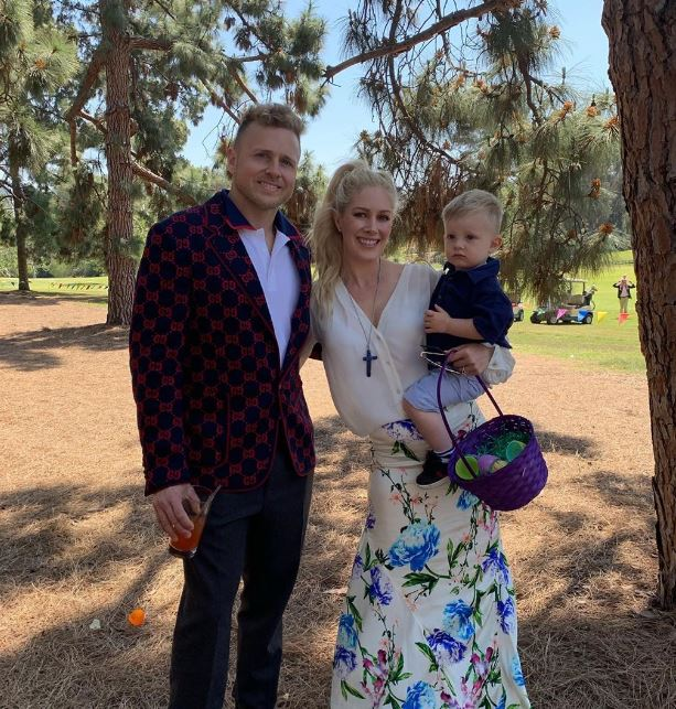 Heidi Pratt with her husband, Spencer Pratt and son