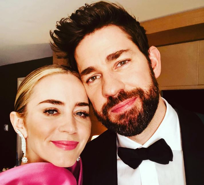 John Kransinski with his wife, Emily Blunt