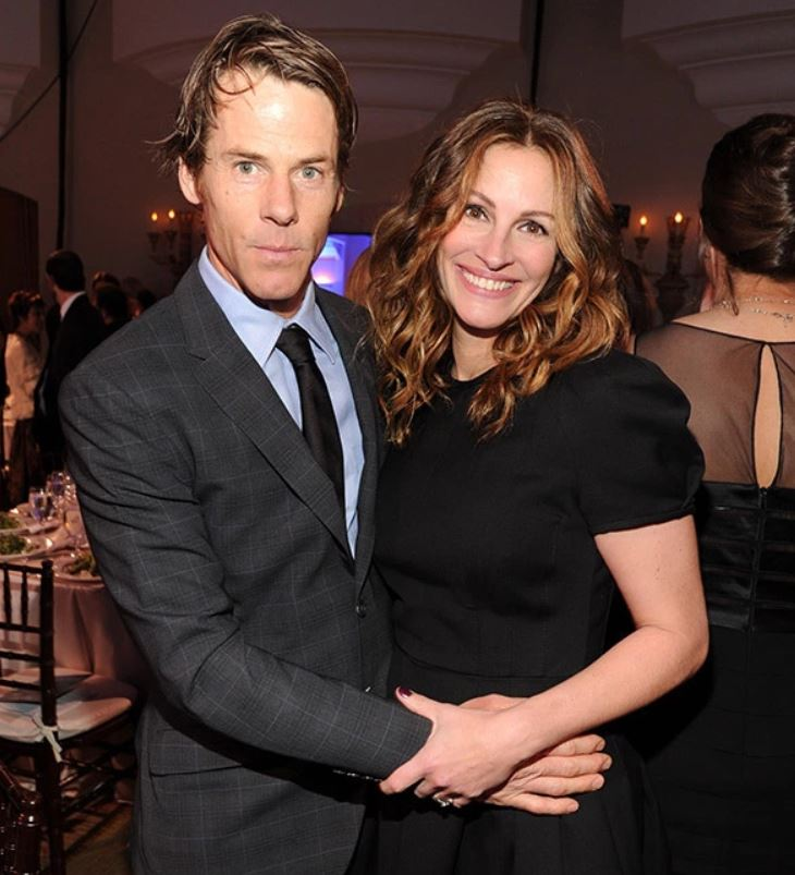 Julia Roberts with her husband, Daniel Moder
