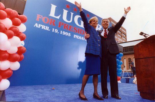 Richard Lugar with wife Charlene