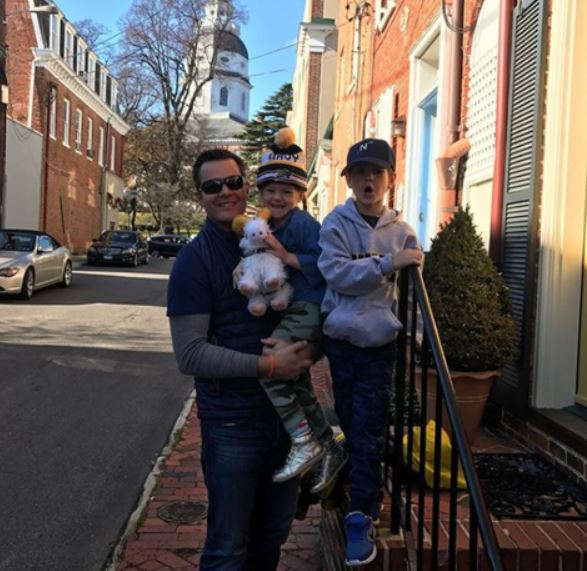 Matt Eby with his children