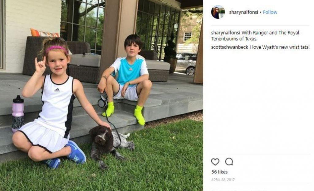 Sharyn shared her children picture on her Instagram