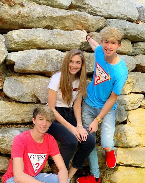 Cash with his siblings Maverick and Lani Lynn