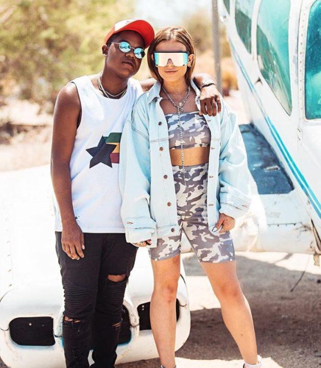 Hana with her boyfriend, Kyle Massey