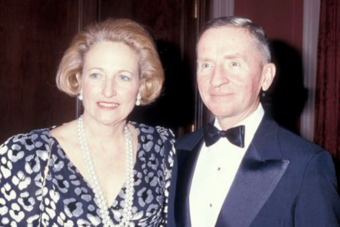 Ross Peort with his wife, Margot Birmingham