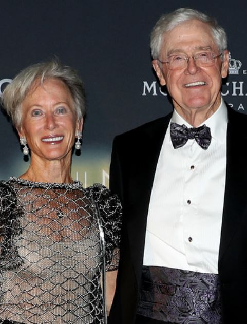 Charles with his wife, Liz Koch