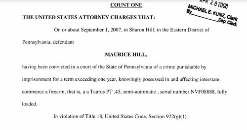Maurice Hill Criminal Reports