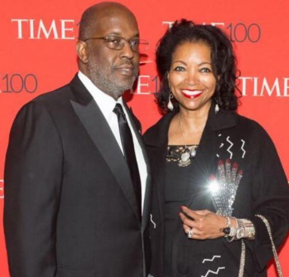 Bernard with his wife, Denise Bradley Tyson