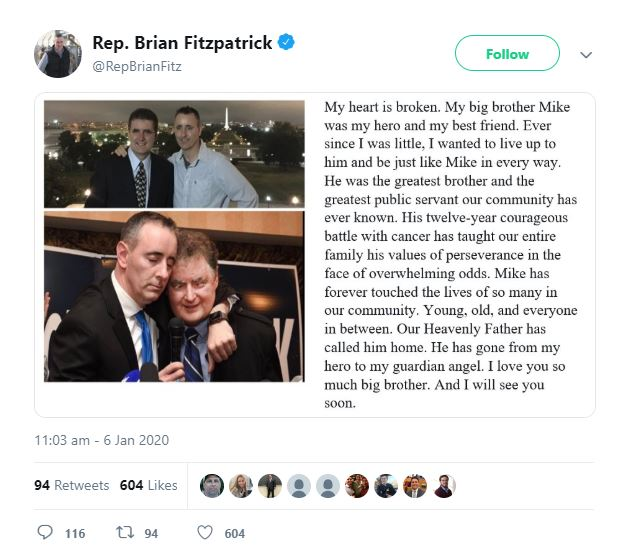 Michael Fitzpatrick Brother Condolence