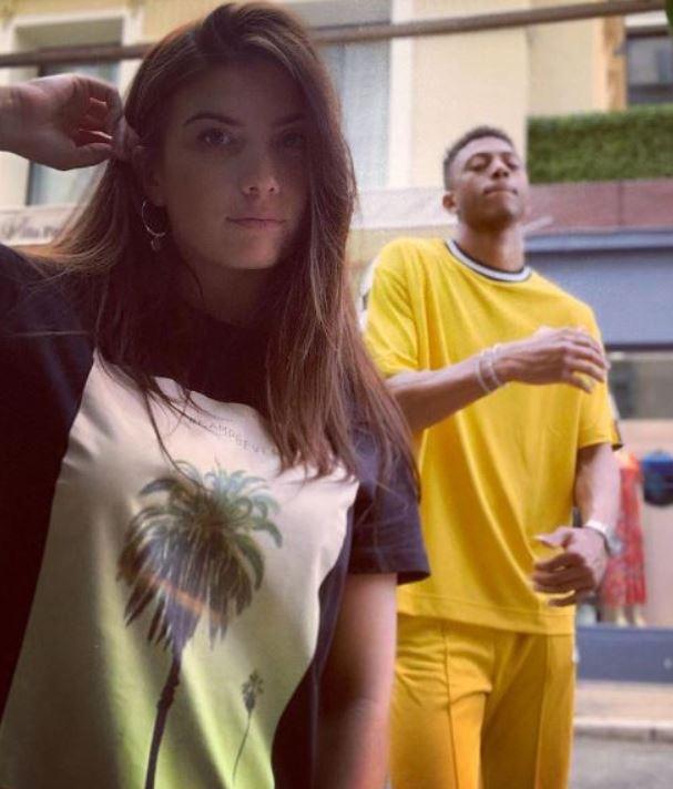 Nathael Julan with his girlfriend