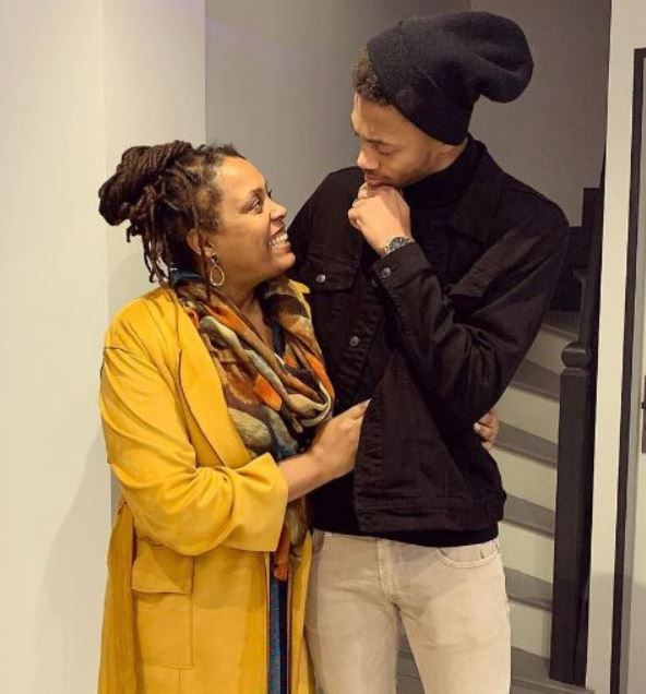 Nathael Julan with his mother