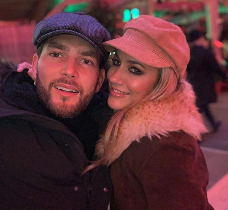 Caroline with her boyfriend, Lewis Burton