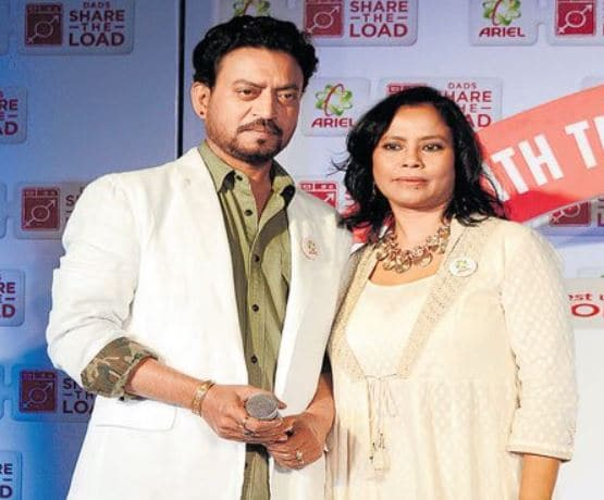 Irrfan Khan with his wife, Sutapa Sikdar
