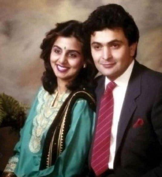 Rishi Kapoor with his wife, Neetu Singh
