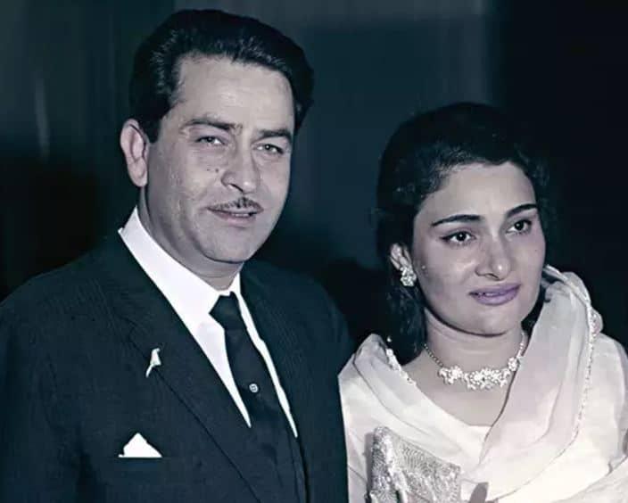 Rishi parents, Raj Kapoor and Krishna Raj Kapoor