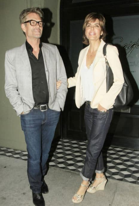 Lisa with her husband, Harry Hamlin