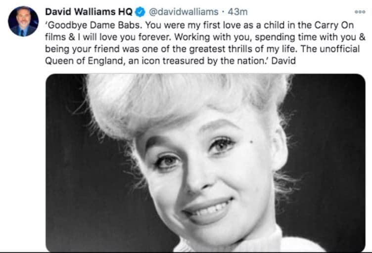 Dame Barbara Windsor Death, Cause, Funeral