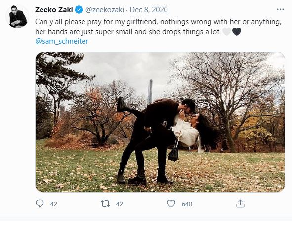 Sam Schneiter Dating, Boyfriend, Zeeko Zaki