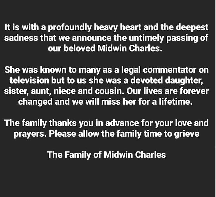 Midwin Charles dead, died, cause of death