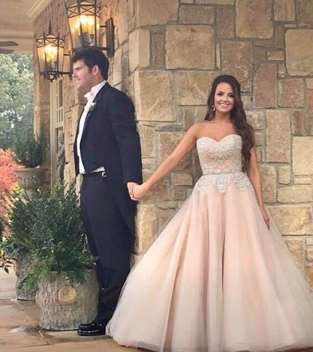 Laura Bird Townley and John Wes Townley, wedding