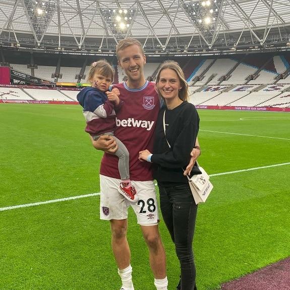 Tomas Soucek wife, daughter, family